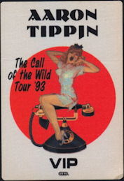 ##MUSICBP0371 - Aaron Tippin OTTO VIP Cloth Pinup Backstage Pass from the 1993 Call of the Wild Tour