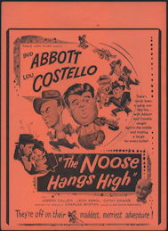 #CH326-28 - Rare Abbott & Costello The Noose Hangs High Poster/Broadside