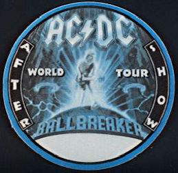 ##MUSICBP0264 - AC/DC OTTO Cloth After Show Backstage Pass from the 1996 Ballbreaker World Tour