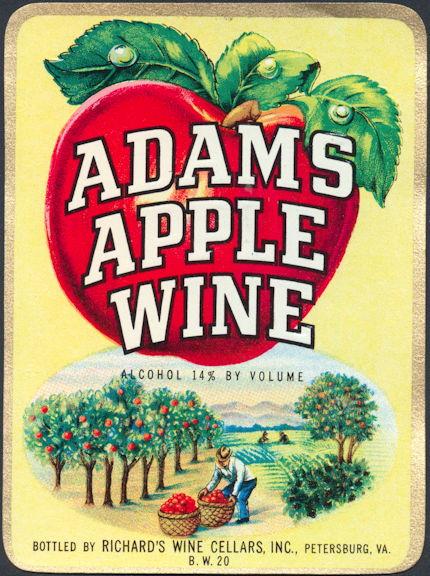 #ZLW088 - Adams Apple Wine Label