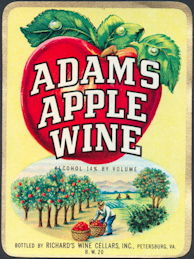 #ZLW088 - Adams Apple Wine Label