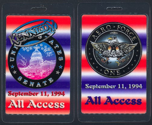 ##MUSICBP0291 - Unusual Version Aerosmith All Access Laminated OTTO Backstage Pass from the 1994 Get a Grip Tour