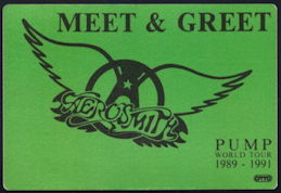 ##MUSICBP0305  - Aerosmith OTTO Cloth Backstage Pass from the 1989-91 Pump World Tour - As low as $3 each
