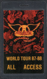 ##MUSICBP0599  - Uncommon 1987-88 Aerosmith Laminated OTTO Backstage Pass from the Permanent Vacation Tour