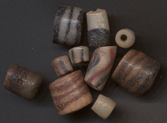 #BEADS0794 - Group of 10 Glass African Trade Beads