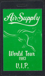 "##MUSICBP0539 - 1983 Air Supply OTTO Backstage Pass from the ""Now and Forever"" World Tour"