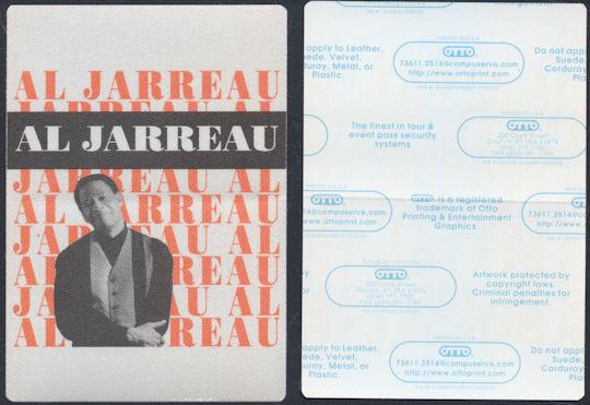 ##MUSICBP0071  - Group of 2 Al Jarreau OTTO Cloth Backstage Passes - 1993 Tour