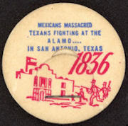 #DC134 - Uncommon Commemorative 1836 Texas Alamo Bottle Cap