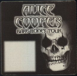 "##MUSICBP0436 - Alice Cooper OTTO Cloth Backstage Pass from the 2003 ""Bare Bones"" Tour"