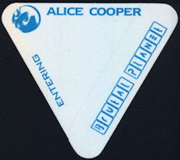 ##MUSICBP0401 - Alice Cooper cloth Backstage Pass from the 2000 Brutal Planet Tour