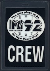 ##MUSICBP0119 - Laminated Backstage Pass for the 1992 MTV New Years Eve Concert with Alice in Chains - As low as $2.50 each