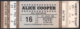 ##MUSICBP0225 - 1988 Alice Cooper Ticket from St. Louis Concert