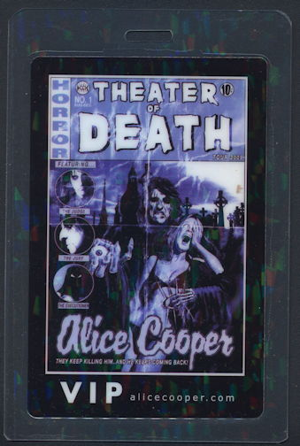 ##MUSICBP0288 - Alice Cooper OTTO Laminated Backstage Pass from the 2009 Theater of Death Tour