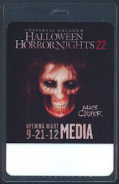 ##MUSICBP0180 - Super Rare Laminated OTTO Backstage Pass from opening of the Alice Cooper Haunted House at Universal Orlando Halloween Horror Night -  as low $6 each