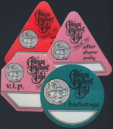 ##MUSICBP0266  - Allman Brothers Band Cloth OTTO Backstage Pass from the 1993 Tour - As low as $3 each