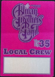 ##MUSICBP0366 - Allman Brothers Band OTTO Cloth Backstage Pass from The Big 35