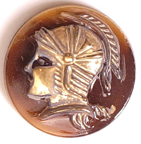 #BEADS0450 - 18mm Raised Glass Design Warrior Cameo - As low as 75¢ each