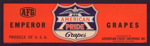 #ZLSG091 - American Pride Brand Grape Crate Label - WWII Era