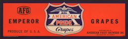 #ZLSG091 - American Pride Brand Grape Crate Label - WWII Era