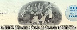 #ZZCE066 -American Radiator & Standard Sanitary Corporation Stock Certificate
