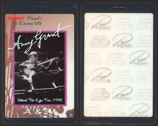 ##MUSICBP0070  - Amy Grant Laminated PERRi Backstage Pass from the Behind the Eyes Tour