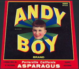 #ZLC422 - Andy Boy Asparagus Crate Label