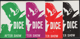 ##MUSICBP0884 - Group of 4 Different Andrew Dice Clay (Comedian) OTTO Cloth After Show Backstage Passes from the Dice Rules Tour