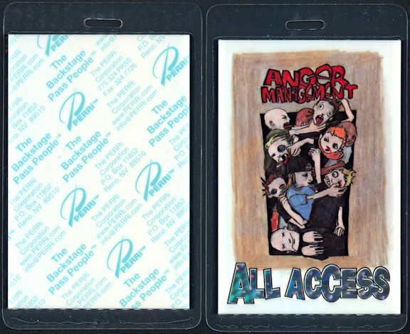 ##MUSICBP0493 - 2000 Anger Management Tour Perri Laminated All Access Backstage Pass
