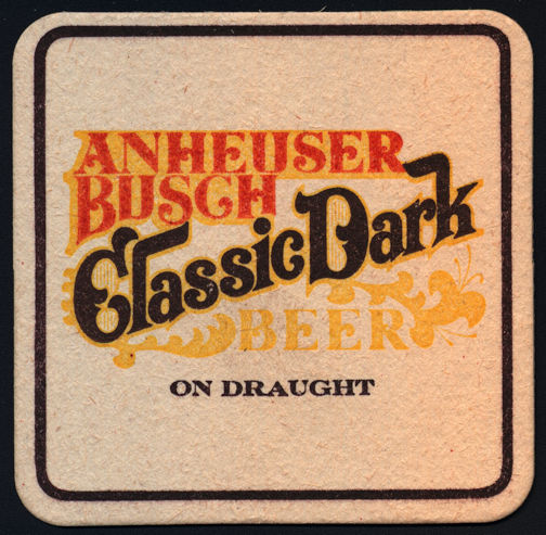 #SP056 - Anheuser Busch Classic Dark Beer Coaster - As low as 10¢ each