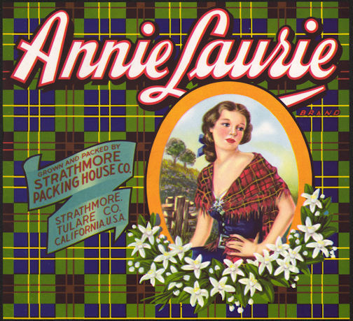 #ZLC334 - Annie Laurie Orange Crate Label