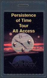 ##MUSICBP0496 - Rare Anthrax  Laminated Backstage Pass from the 1990 Persistence of Time Tour