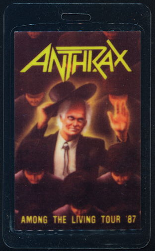 ##MUSICBP0368 - Anthrax OTTO Laminated Backstage Pass from the 1987 Among the Living Tour