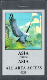 ##MUSICBP0291 - 1983 Asia OTTO Laminated All Area Access Backstage Pass from the Alpha Tour