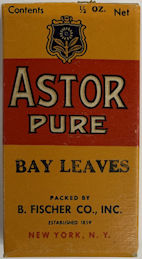#CS484 - WWII Era Full Box of Astor Brand Pure Bay Leaves