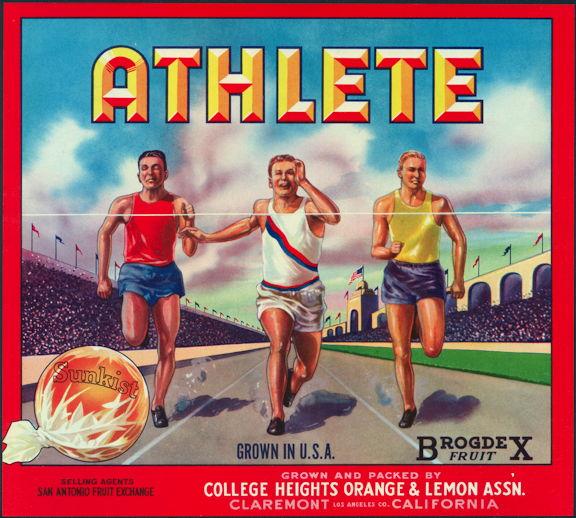 #ZLC359 - Athlete Sunkist Orange Crate Label