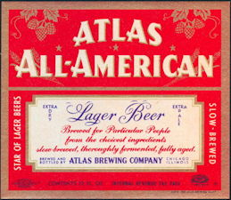 #ZLBE072 - Atlas All-American Beer Label - IRTP