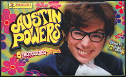 #ZZA252 - Full Unopened Pack of 6 Austin Powers 1999 Movie Photo Trading Cards
