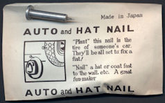 #TY629 - Auto and Hat Fake Nail Gag - Japan