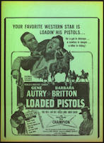 #CH326-14 - Gene Autry Loaded Pistols Poster/Broadside