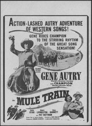 #CH326-29 - Gene Autry Mule Train Movie Poster/Broadside