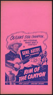#CH326-18 - Gene Autry Rim of the Canyon Poster/Broadside