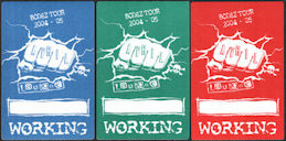 ##MUSICBP0023  - Group of 3 Avril Lavigne OTTO Cloth Backstage Passes from the Bonez Tour