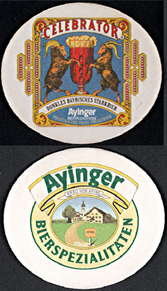 #SP079 - Ayinger Celebrator Beer Coaster - Goats