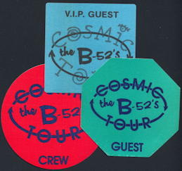 ##MUSICBP0211 - The B-52's OTTO Backstage Pass from the 1990 Cosmic Tour - as low as $2.50 each