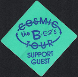 ##MUSICBP0678 - The B-52's OTTO Cloth Backstage Pass from the 1989 Cosmic Tour