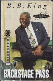 ##MUSICBP0340 - B. B. King OTTO Cloth Backstage Pass from the 50th Anniversary of his Debut in 1949