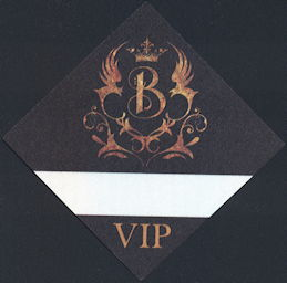 ##MUSICBP0333 - B. B. King OTTO VIP Backstage Pass with Fancy Logo