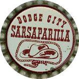#BC081 - Group of 10 Dodge City Sarsaparilla Cork Lined Soda Caps