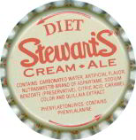 #BC018  - Group of 10 Stewart's Diet Cream Ale Plastic Lined Soda Bottle Caps
