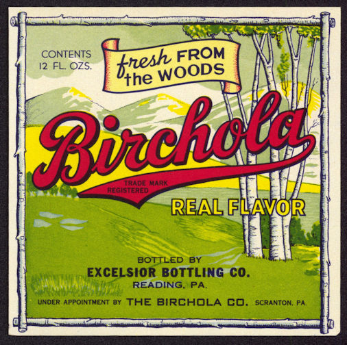 #ZLS168 - Uncommon Birchola Soda Bottle Label